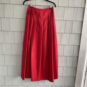 The Limited Red Pleated Skirt